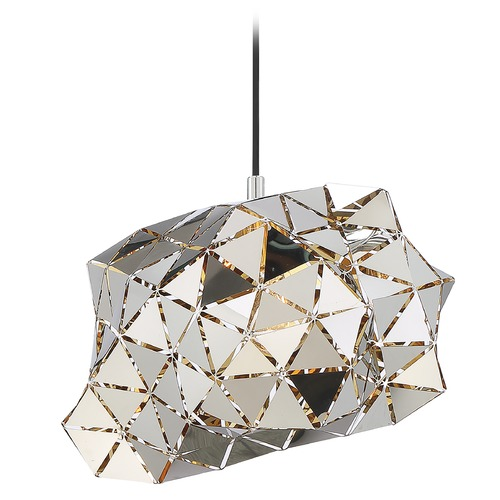 Quoizel Lighting Quoizel Lighting Scorpius Polished Chrome Pendant Light with Abstract Shade PCSC1813C
