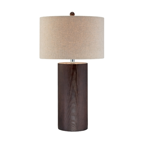 Lite Source Lighting Lite Source Lighting Paterson Dark Walnut Table Lamp with Drum Shade LS-21741