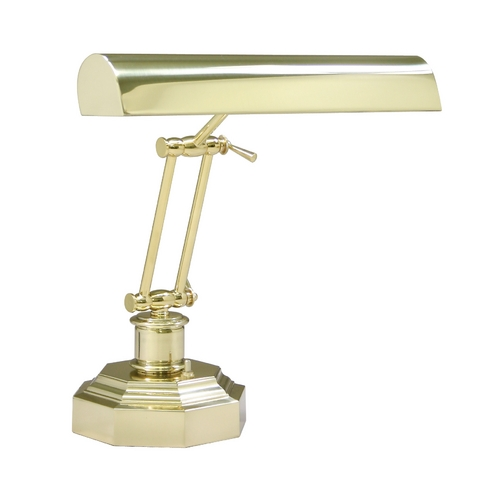 House of Troy Lighting Piano / Banker Lamp in Polished Brass Finish P14-203