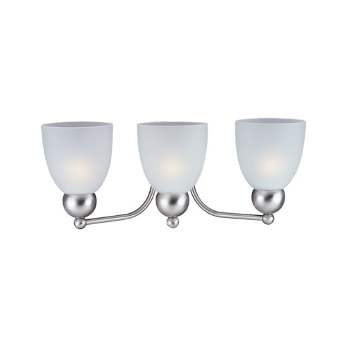 Sea Gull Lighting Modern Bathroom Light with White Glass in Brushed Nickel Finish 44036-962