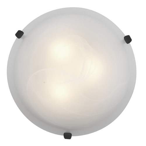 Access Lighting Modern Flushmount Light with Alabaster Glass in Rust Finish 23019GU-RU/ALB