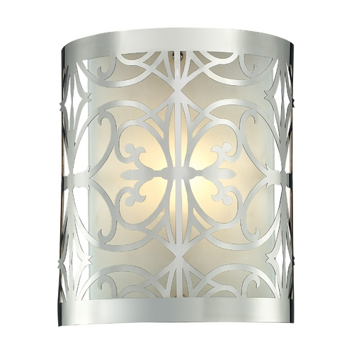 Elk Lighting Modern Bathroom Light with White Glass in Polished Chrome Finish 11430/1