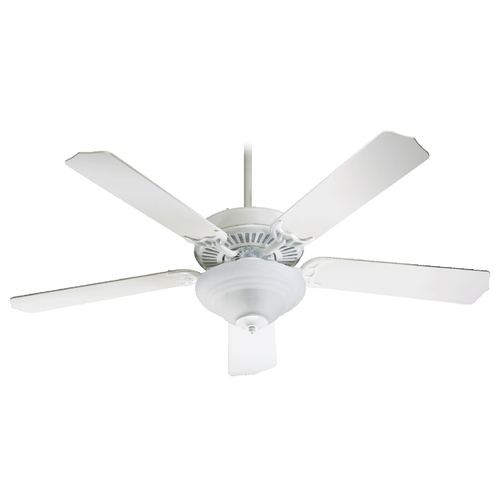 Quorum Lighting Quorum Lighting Capri Iii Studio White Ceiling Fan with Light 77525-9508