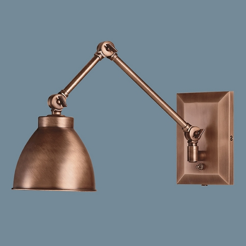 Norwell Lighting Norwell Lighting Maggie Architectural Bronze Swing Arm Lamp 8471-AR-MS