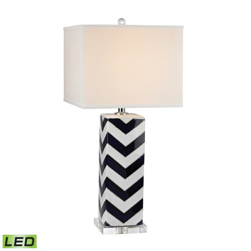 Dimond Lighting Dimond Lighting Navy, White LED Table Lamp with Square Shade D2633-LED
