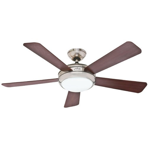 Hunter Fan Company Hunter Fan Company Palermo Brushed Nickel Ceiling Fan with Light 59052