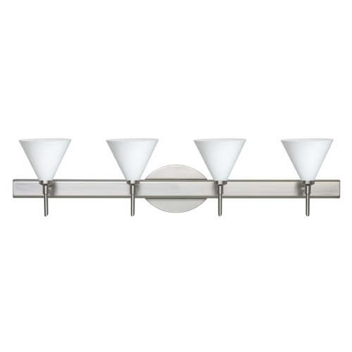 Besa Lighting Besa Lighting Kani Satin Nickel LED Bathroom Light 4SW-512107-LED-SN