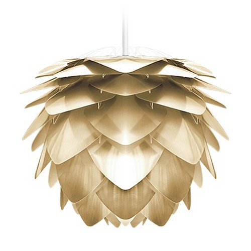 UMAGE UMAGE White Plug-In Swag Pendant Light with Abstract Shade 2071_4009