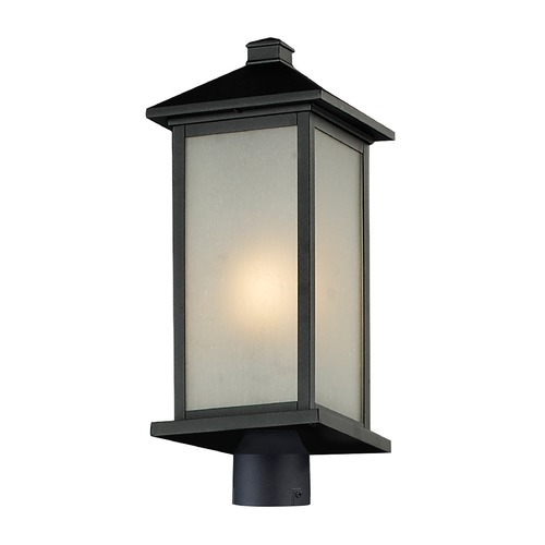 Z-Lite Z-Lite Vienna Black Post Light 547PHB-BK-R