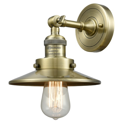 Innovations Lighting Innovations Lighting Railroad Antique Brass Sconce 203-AB-M4