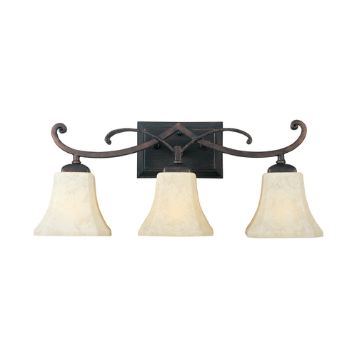 Maxim Lighting Maxim Lighting Oak Harbor Rustic Burnished Bathroom Light 21073FLRB