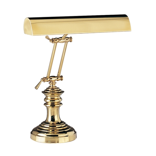 House of Troy Lighting Piano / Banker Lamp in Polished Brass Finish P14-204