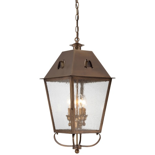 Minka Lavery Seeded Glass Outdoor Hanging Light Brass Minka Lavery 72425-212
