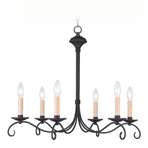 Livex Lighting Livex Lighting Heritage Black Chandelier 4466-04