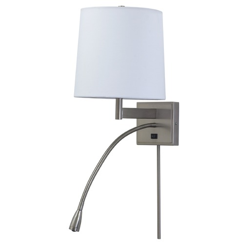 House of Troy Lighting House Of Troy Eco Collection Satin Nickel Swing Arm Lamp ECO425-SN