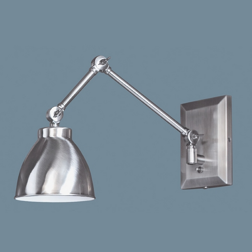 Norwell Lighting Norwell Lighting Maggie Pewter Swing Arm Lamp 8471-PW-MS