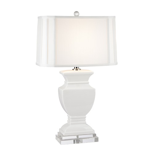 Dimond Lighting Dimond Lighting Gloss White Table Lamp with Cut Corner Shade D2634