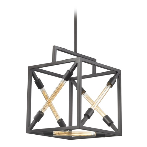 Dimond Lighting Dimond Box Tube Oil Rubbed Bronze Pendant Light D3207