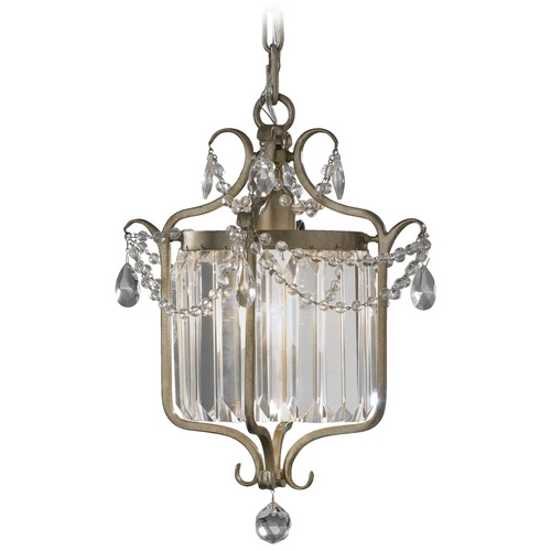 Feiss Lighting Pendant in Gilded Silver Finish F2473/1GS