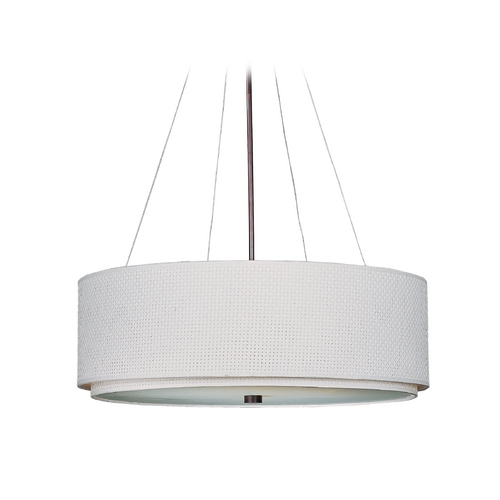 ET2 Lighting Modern Pendant Light with White Shades in Oil Rubbed Bronze Finish E95060-100OI