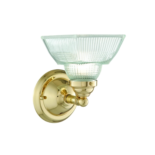 Hudson Valley Lighting Sconce with Clear Glass in Polished Nickel Finish 4511-PN