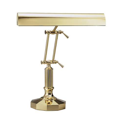 House of Troy Lighting Piano / Banker Lamp in Polished Brass Finish P14-212