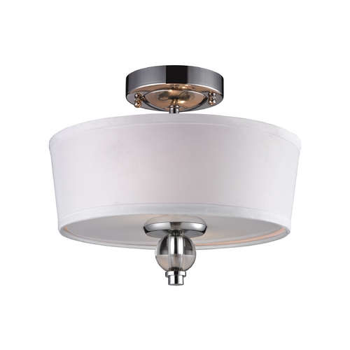 Elk Lighting Semi-Flushmount Light with White Glass in Polished Chrome Finish 31284/2