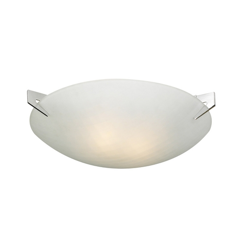 PLC Lighting Modern Flushmount Light with White Glass in Polished Chrome Finish 12144 PC