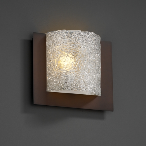Justice Design Group Justice Design Group Veneto Luce Collection Sconce GLA-5560-LACE-DBRZ