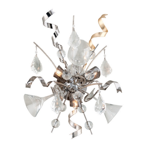 Corbett Lighting Corbett Lighting Party All Night Modern Silver Sconce 189-13