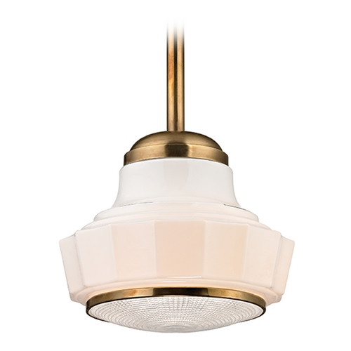 Hudson Valley Lighting Art Deco Mini-Pendant Light Brass Odessa by Hudson Valley Lighting 3809-AGB