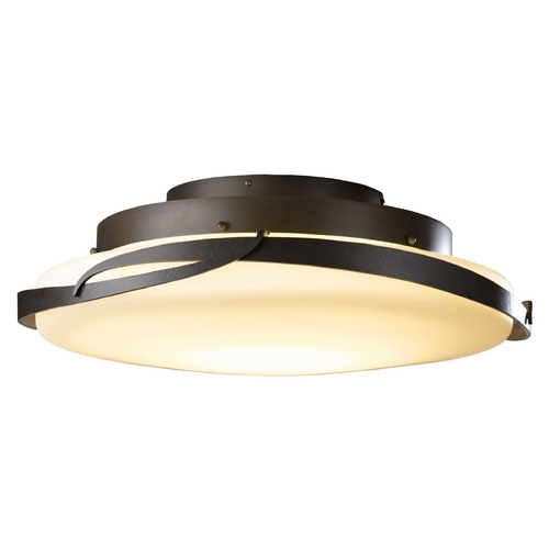 Hubbardton Forge Lighting Hubbardton Forge Lighting Flora Dark Smoke LED Semi-Flushmount Light 126742D-07-G437