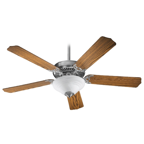 Quorum Lighting Quorum Lighting Capri Iii Satin Nickel Ceiling Fan with Light 77525-9565