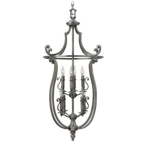 Hinkley Lighting Hinkley Lighting Plymouth Polished Antique Nickel Pendant Light 4258PL