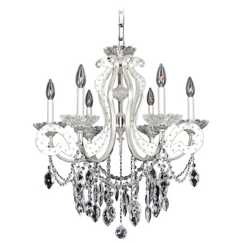 Allegri Lighting Titian 6 Light Crystal Chandelier 022050-017-FR001