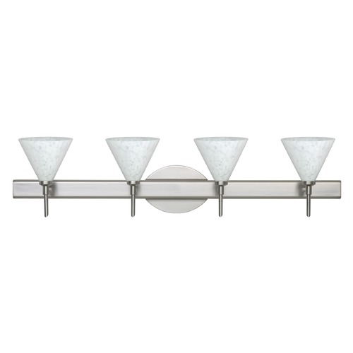 Besa Lighting Besa Lighting Kani Satin Nickel LED Bathroom Light 4SW-512119-LED-SN