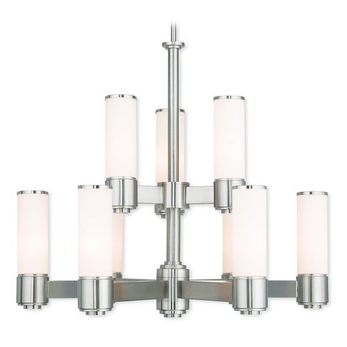 Livex Lighting Livex Lighting Weston Brushed Nickel Chandelier 52109-91