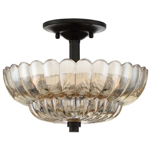 Quoizel Lighting Quoizel Lighting Whitecap Mottled Cocoa Semi-Flushmount Light WHP1712MC