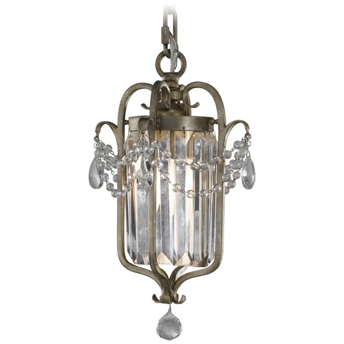 Feiss Lighting Mini-Pendant Light in Gilded Silver Finish F2474/1GS