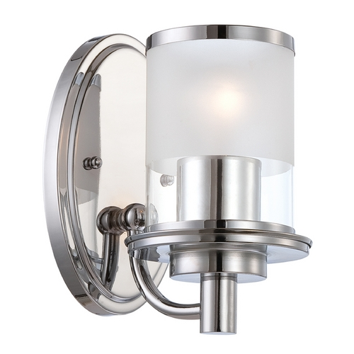 Designers Fountain Lighting Modern Sconce Wall Light with Clear Glass in Chrome Finish 6691-CH