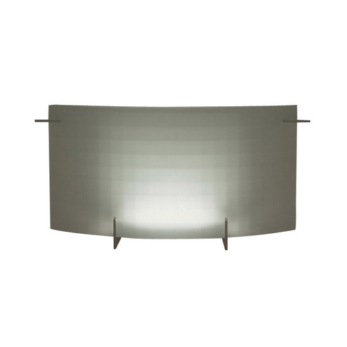 PLC Lighting Modern Bathroom Light with White Glass in Polished Chrome Finish 12136 PC