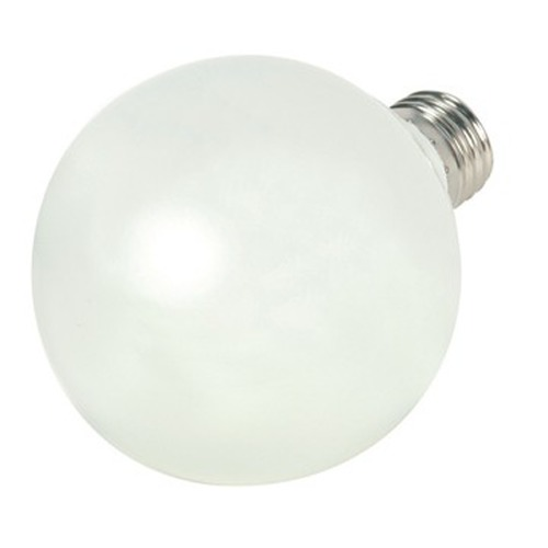 Satco Lighting 15-Watt Cool White Globe Compact Fluorescent Light Bulb S7305