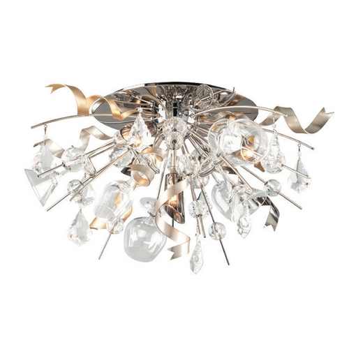 Corbett Lighting Corbett Lighting Party All Night Modern Silver Semi-Flushmount Light 189-33