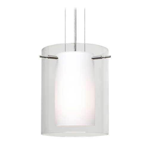 Besa Lighting Besa Lighting Pahu Satin Nickel LED Mini-Pendant Light 1KG-C00607-LED-SN