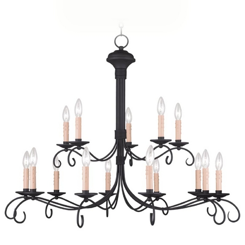Livex Lighting Livex Lighting Heritage Black Chandelier 4448-04