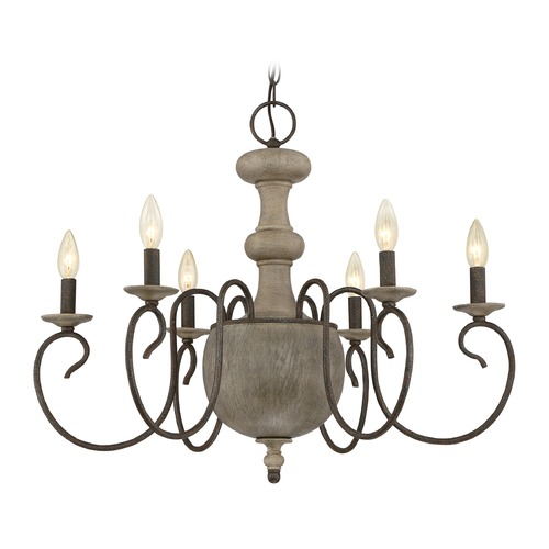 Quoizel Lighting Quoizel Castile Rustic Black Chandelier CS5006RK