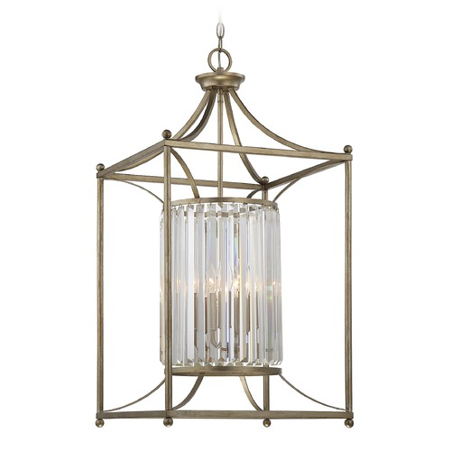 Savoy House Savoy House Lighting Fenton Argentum Pendant Light with Cylindrical Shade 3-3036-4-211