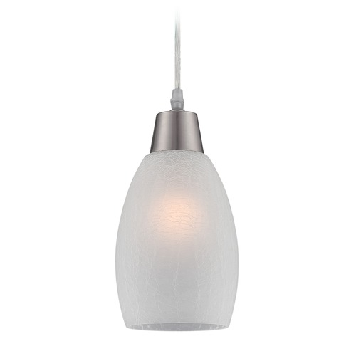 Lite Source Lighting Lite Source Inga Polished Steel Mini-Pendant Light with Bowl / Dome Shade LS-19099WHT