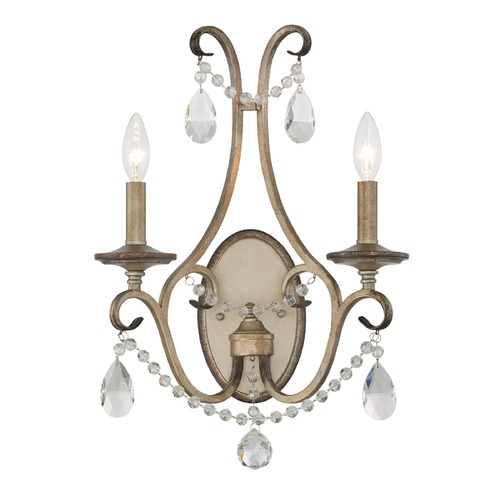 Designers Fountain Lighting Designers Fountain Gala Argent Silver Sconce 86002-ARS