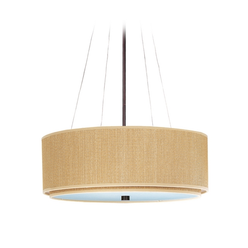 ET2 Lighting Modern Pendant Light with Brown Tones Shades in Oil Rubbed Bronze Finish E95060-101OI